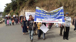 A procession rally with placards to observe the World disabled Day