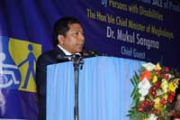 About CM seeks Centre's intervention for people with disabilities, Meghalaya