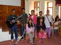 Group song from the Differently Abled Students