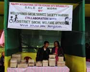 Sale of work by Wellsprings Social Service Society Mairang in collaboration with District Social Welfare Officer, Nongstoin