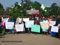 A Rally of the Persons with Disabilities organized by the the Khasi Disabilities Association, 2013