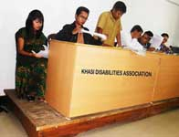 The Members of the Central Selection Committee of the Khasi Disabilities Association, 2014