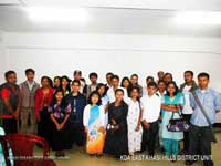 The Office Bearers of the Khasi Disabilities Association, East Khasi Hills District Unit who were elected on the 07th July, 2014