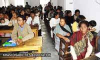 The Persons with Disabilities from all over the Ri-Khasi who came to be a part of the election of the Association's Office bearers on the 07th  May,2011 at Synod Higher Secondary School, Shillong