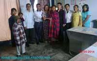The Association provides financial assistance as a donation to the family of Kyndiang Dohling (Deaf and Dumb disabled) at Block Resource Centre, Laitkroh on 19th May, 2014