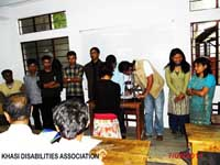 The first office bearers of the Khasi Disabilities Association Central Body who were elected on the 07th May, 2011