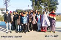 he Office Bearers of the Khasi Disabilities Association, East Jaintia Hills District Unit who were elected  on the 22nd  December, 2012