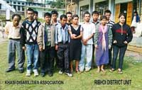 The Office Bearers of the Khasi Disabilities Association Ri-Bhoi District Unit who were elected