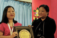 Ms Jasmine Sangma, Awarded for an outstanding performances in the field of Education during the inaugural programme on the 14th November, 2019