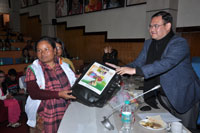 Felicitation of Smt. Batimon Nongsteng, Special Booth Level Officer 