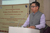 Additional Chief Secretary, Social Welfare, Shri H. Marwein, gracing the occasion as the guest of honour